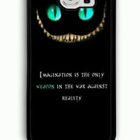 Samsung Galaxy S6 Case - Rubber (TPU) Cover with Disney Quote Alice In Wonderland Rubber case Design