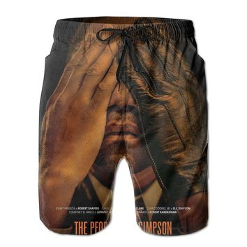 AMERICAN CRIME STORY TV POSTER Mens Fashion Casual Beach Shorts