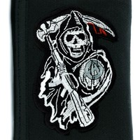 Sons of Anarchy Tri-fold Wallet w/ Chain Grim Reaper Clothing