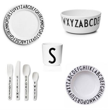 New Fashion Black White Letters Safety Melamine Baby Feeding Dinner Bowl Dishes Children Porringer Fruit Dishes