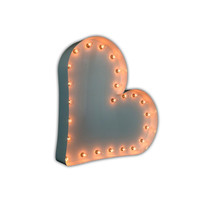 Heart Sign Marquee Light (White Gloss)