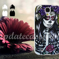 Floral Sugar Skull Day of the Dead - Photo Print for iPhone 4/4s, iPhone 5/5S/5C, Samsung S3 i9300, Samsung S4 i9500 Hard Case