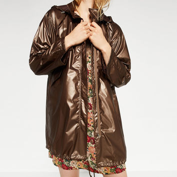 METALLIC RAINCOAT - NEW IN-WOMAN | ZARA United Kingdom