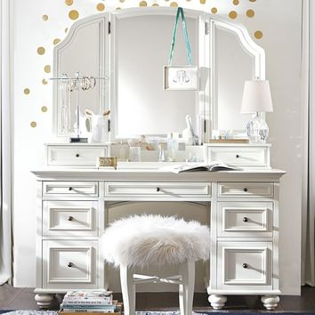 bed room set elsie classic vanity desk from pbteen future room 10248