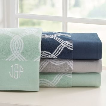 Infinity Stripe Bath Towels
