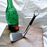 Golf Bottle Opener -- Rare Gene ''The Machine'' Littler 3 Iron -- Golf Gift