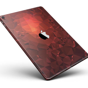 """Red Orange Geometric V13 Full Body Skin for the iPad Pro (12.9"""" or 9.7"""" available)"""