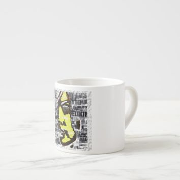 Girl in yellow espresso cup