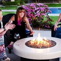 Oriflamme Fire Pit Fire Table Tuscan 42""