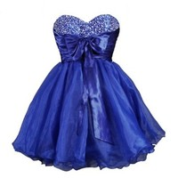 Faironly Mini Short Dress for Cocktail or Homecoming Prom (XS, Navy Blue)