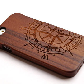Wood iPhone Case Compass wood iPhone 6/6 plus case Wood Samsung galaxy s3 s4 s5 note2 note3 note4 case iphone 4 4s 5 5s wood case