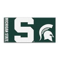 Michigan State Spartans NCAA Fiber Reactive Beach Towel (Colossal Series) (28in x 58in)
