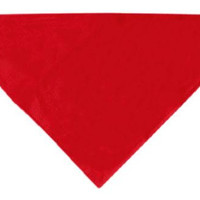 Plain Bandana Red Small