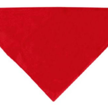 Plain Bandana Red Large