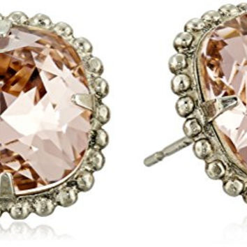 "Sorrelli ""Vintage Rose"" Cushion-Cut Solitaire Stud Earrings"