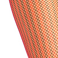 Deadstock Red Stripe Fishnet Tights