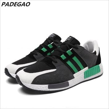 PADEGAO New Men Sneakers Casual Shoes Breathable Mesh Men Shoes Lightweight Men Flats Casual Shoes Men Brand Designer Male Shoes