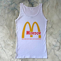 Mordor Lord Of The Ring Funny Parody McDonald Women's Tank {Color Available}