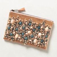 Fayruz Jeweled Clutch by Anthropologie Peach One Size Clutches