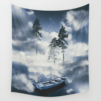 Forest sailing Wall Tapestry by happymelvin