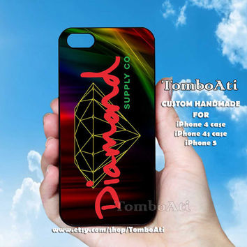 Diamond Geometric color - Print on Hard Cover For iPhone 4/4S and iPhone 5 Case
