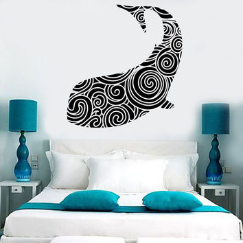 Vinyl Wall Decal Whale Ocean Sea Marine Decor Stickers Mural (464ig)