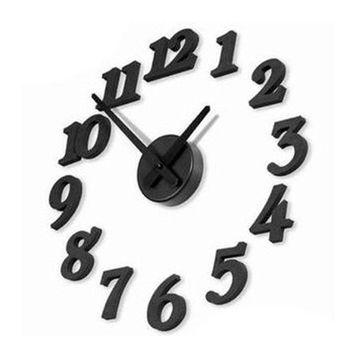 DIY Self Adhesive Decal Modern Wall Digit Number Room Interior Decoration Clock