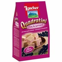Loacker Quadratini Blackcurrant Wafer Cookies 7.7 oz