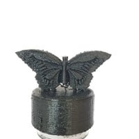 3D Printed Butterfly Pop Topper or H20 Mine, Soda Bottle Cap Cover, Water Bottle Cap Cover, Free Shipping