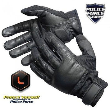 793831950469 Police Force Tactical SAP Gloves Large PFTSGL Streetwise Full Finger