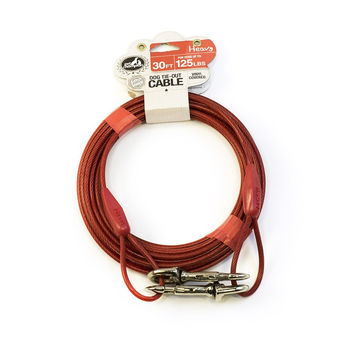 Pet Champion Heavy Tie Out Cable for Dogs Up to 125 Pound 30 Feet