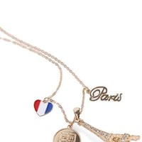 Long  Necklace with Paris Charms