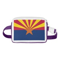 Patriotic Fanny Pack with Flag of Arizona, USA.