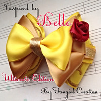 "Disney Belle inspired ""Beauty"" Bow"