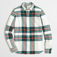 FACTORY PERFECT BOYFRIEND SHIRT IN FLANNEL