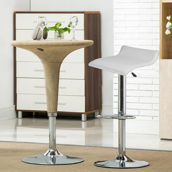 HOT SALE 2pcs Synthetic Leather Adjustable Swivel Bar Stools Chairs Pneumatic Heavy-duty Counter Pub Living Room Furniture