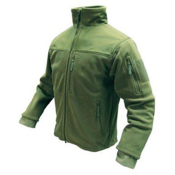 Alpha Fleece Jacket Color- OD Green (Large)