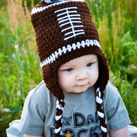 toddler boy crochet football hat 12 months by stitchesbystephann