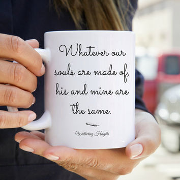Wuthering Heights Quote Mug - Literary Gift - Literary Mug - Book Quotes - Inspirational Quote Mug - Geekery - Book Worm Gift - Under 20