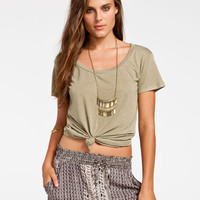 Billabong Essential Womens Boyfriend Tee Olive  In Sizes