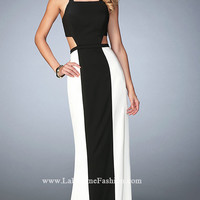Black and Ivory Prom Dress by La Femme
