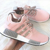 ADIDAS Women Running Sport Casual Shoes NMD Sneakers Shining Pink B-CSXY