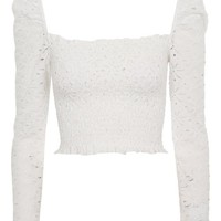Long Sleeve Lace Top - T-Shirts - Clothing
