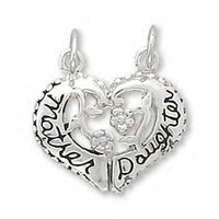Break-Away Mother / Daughter Heart Charm