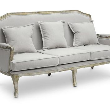 Baxton Studio Constanza Classic Antiqued French Sofa Set of 1