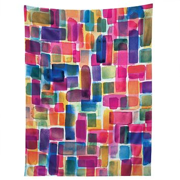 CMYKaren Watercolor Overlay Tapestry