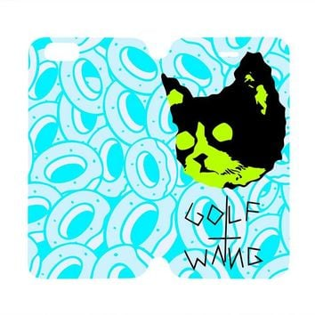 GOLF WANG OFWGKTA Wallet Case for iPhone 4/4S 5/5S/SE 5C 6/6S Plus Samsung Galaxy S4 S5 S6 Edge Note 3 4 5