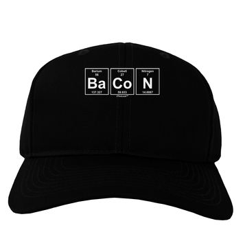 Bacon Periodic Table of Elements Adult Dark Baseball Cap Hat by TooLoud
