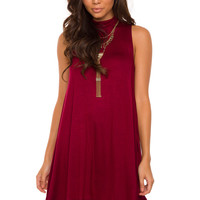 Shop Priceless Laila Dress - Burgundy