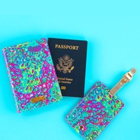 Lilly Pulitzer Luggage Tag and Passport Holder - Lilly's Lagoon